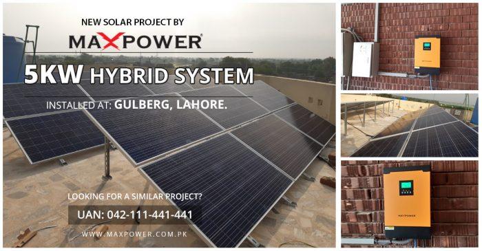 Gulberg-Lahore-5kW-Hybrid-System